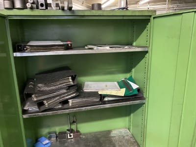 Metal cabinet without contents