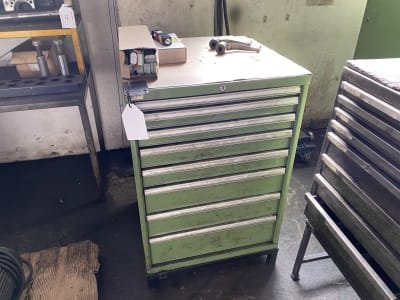 LISTA Workshop drawer cabinet with contents