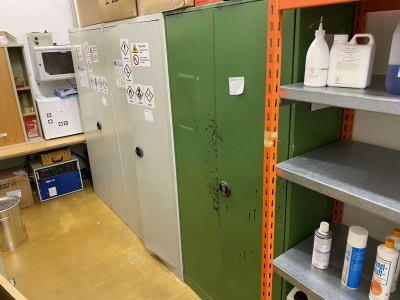 2-doors metal workshop cabinet