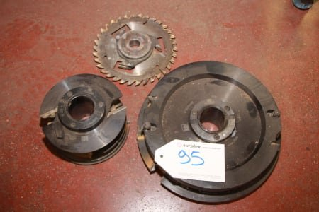 Lot of milling tools for windows and doors