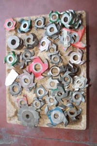 Lot of milling tools