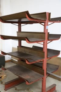 Double-sided Cantilever Rack without Content