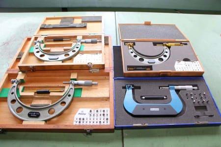 4 micrometer stirrup screws for thread measurement