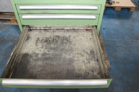 Telescopic drawer cabinet without contents
