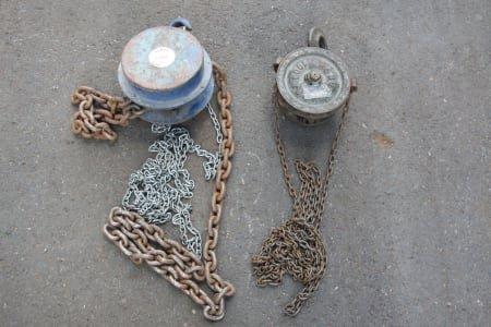 2x Hand Chain Hoist