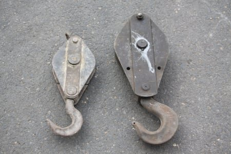 2x Deflection Pulley with Hook