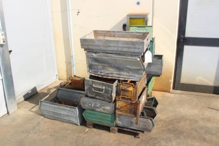 Lot Of Metal Boxes (X 22)