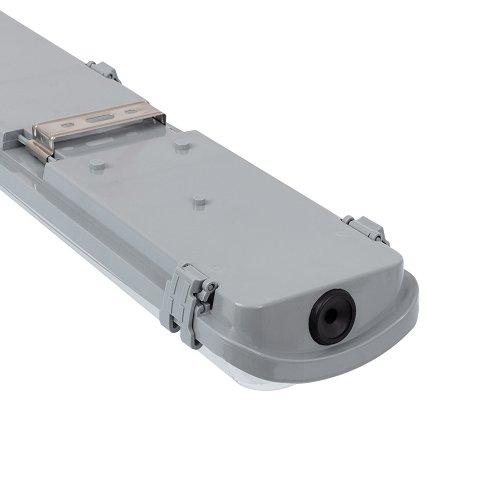 6 UDS PANTALLA ESTANCA IP65 CON DOS TUBOS LED 120CM (NUEVAS)