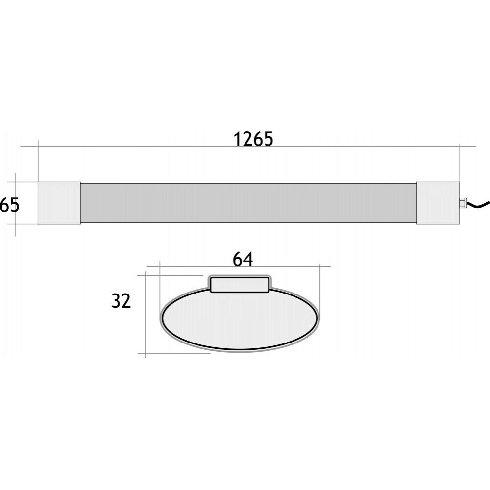 5 Pantalla Estanca LED 120cm 36w (Nuevas)