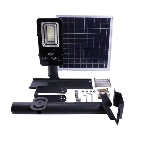 Farola Solar LED 60W Panel Orientable y Control Remoto (Nueva)