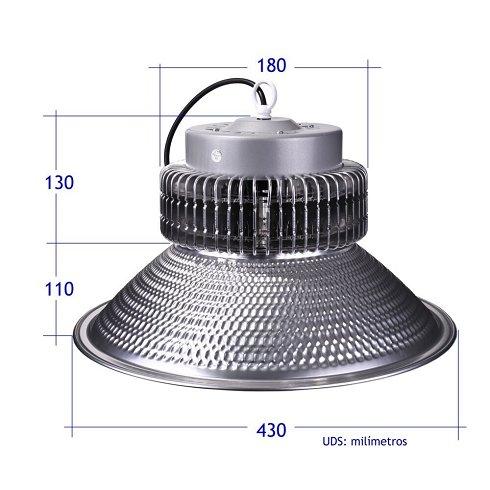 6 Campanas Industriales LED 100W (Nuevas)
