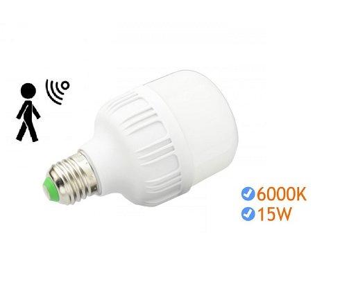 6 Uds Bombilla LED 15W con Sensor (Nuevas)