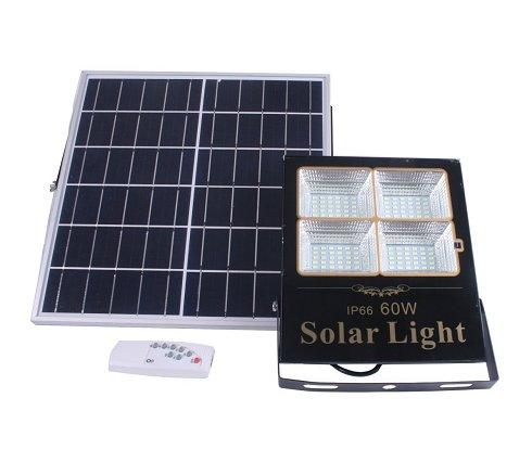 Proyector LED Solar 60W con Panel Independiente y Orientable (Nuevo)