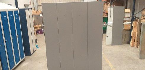 Módulo de 8 taquillas de color gris