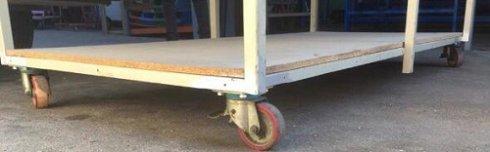 Mesa de trabajo con ruedas 2450x1200x1000
