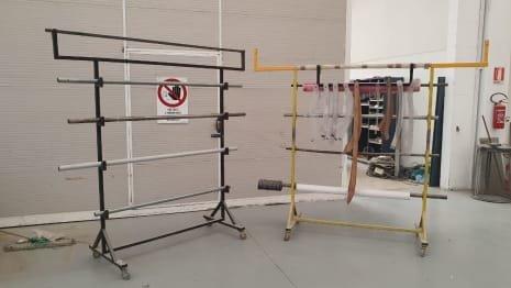 Lot of roll-holder racks