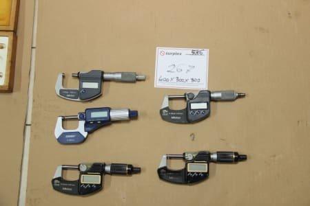 Lot Outside Micrometers Digital