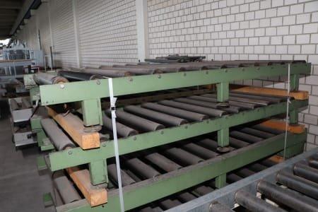 Roller conveyor driven