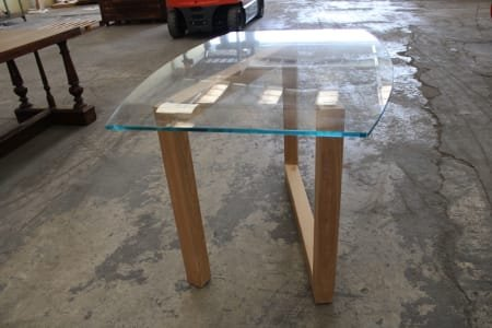 Design Table with Glass Top