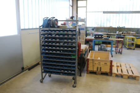 Mobile Workshop Shelving with Contents