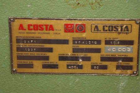 COSTA GAF 1 Welding equipment