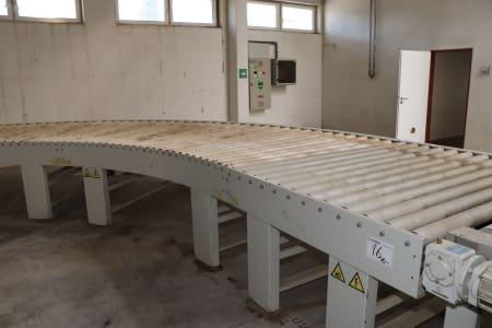 CEFLA CURVA A RULLI 180° 180° curve roller conveyor