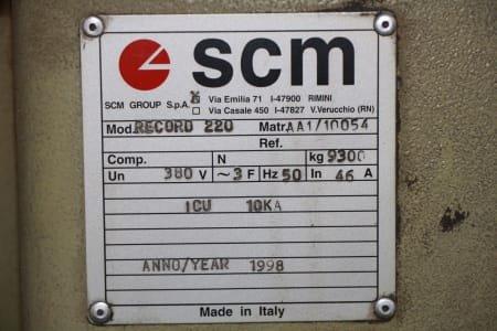 Centro de mecanizado SCM RECORD 220