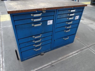 Workshop cabinets with measure equipment
