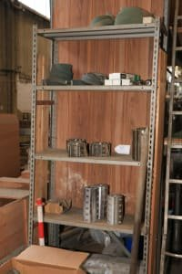 Shelf with milling tools