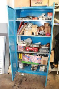 Cabinet with content