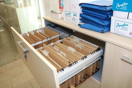 Office Bookshelf Composition