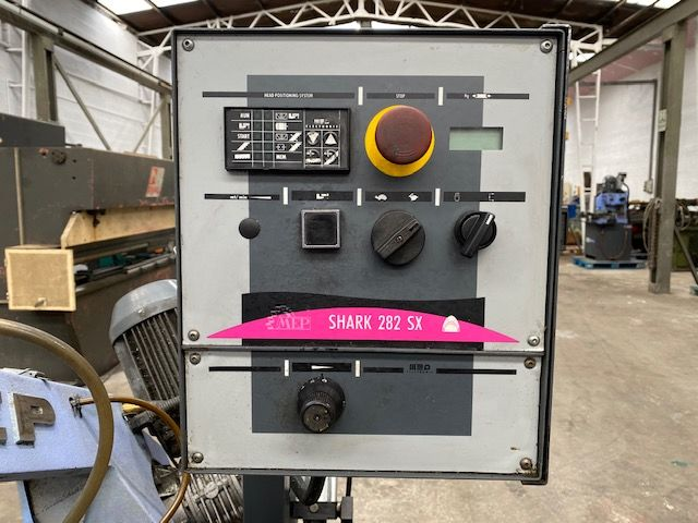 Sierra de cinta semi automática MEP