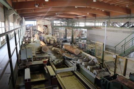 Aserradero BRAUN + CANALI / MÖHRINGER / NICHOLSON BBS.V 1800 K/R incl. Solid Wood Parquet Production