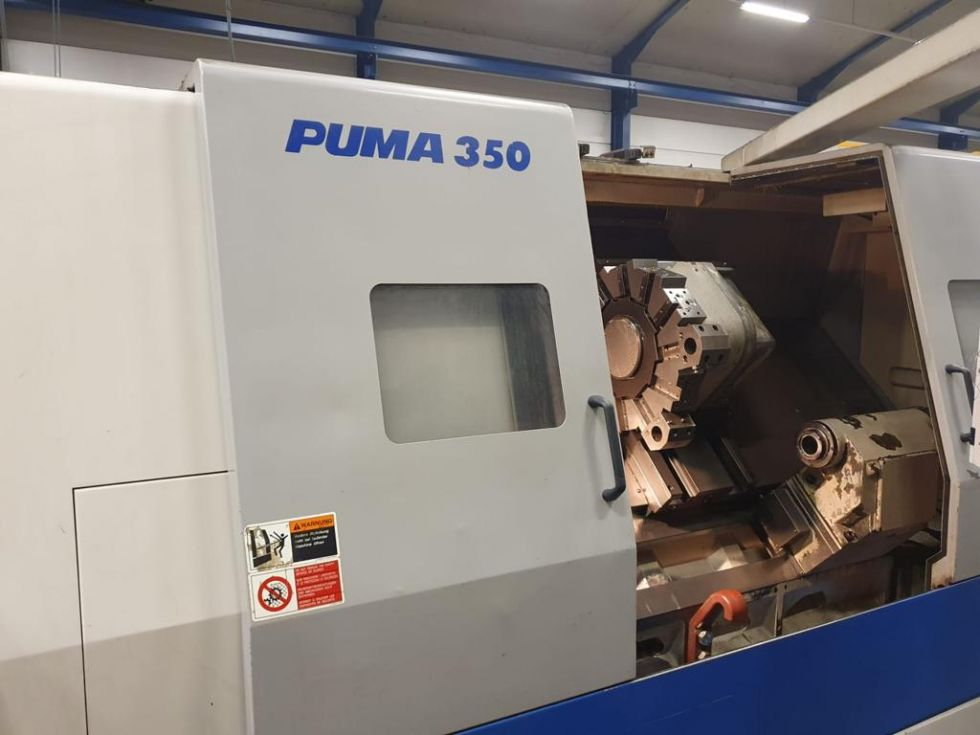 CNC turning lathe DAEWOO - PUMA 350 Ø 480 x 1050 mm 6305 = Mach4metal