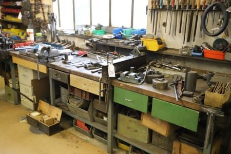 Long Workbench with Content