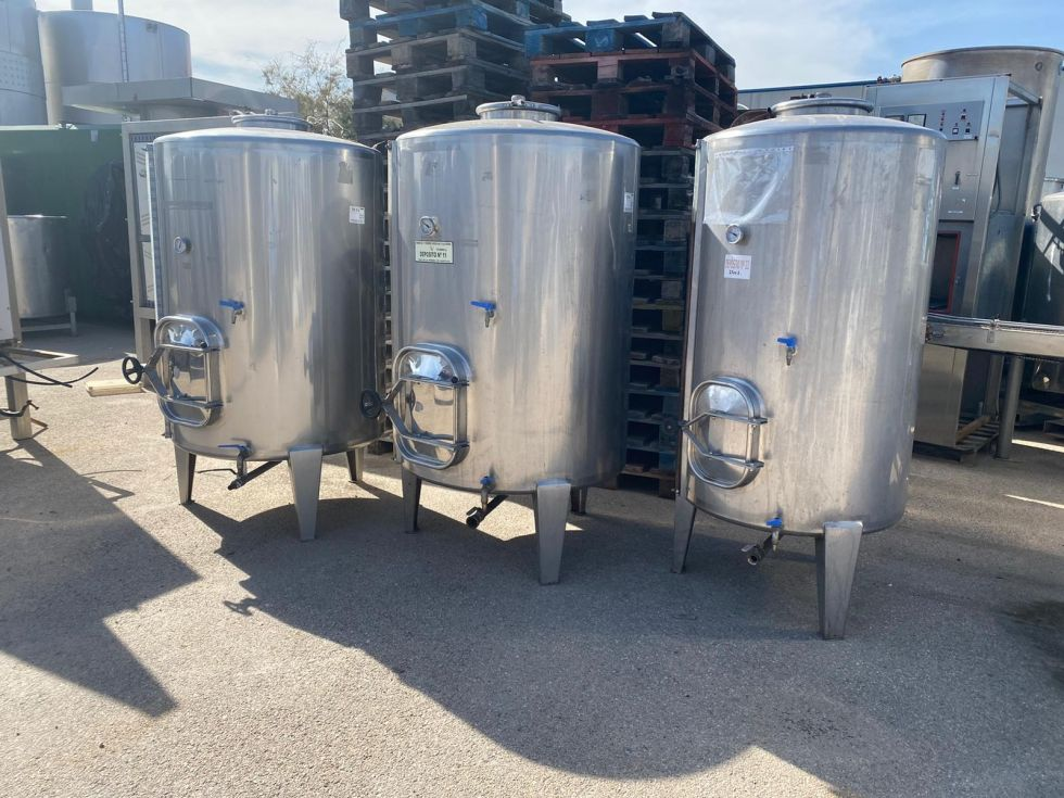 Depósito 1.000 litros en inox 316 sencillo