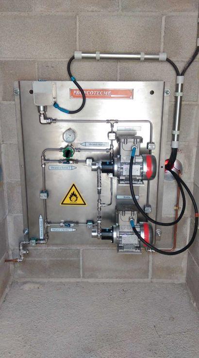 Panel control Bombas Metanol