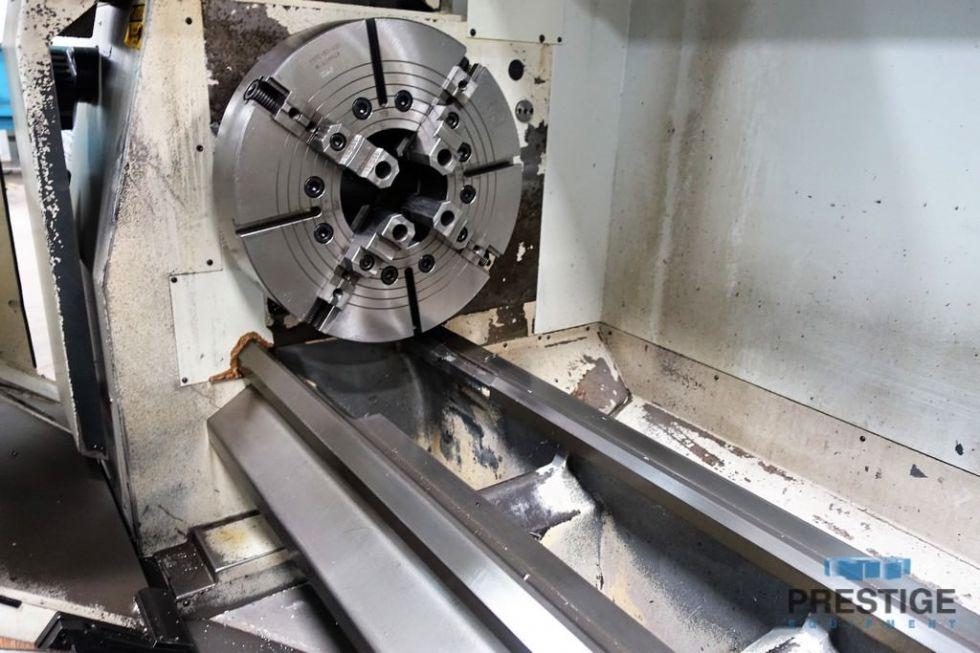 Torno de cama plana de husillo hueco CNC