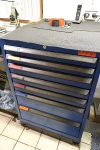 Drawer Cabinet with Contents