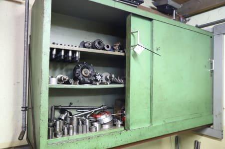 Sliding Door Cabinet with Contents