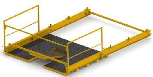 Plataforma de cargue y descargue de material