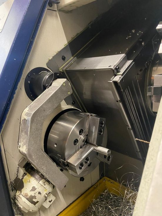 CNC turning lathe TONGTAI - HS 22 – M Ø 220 x 200 mm C-Axis Live Tools 6367 = Mach4metal