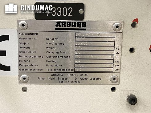 Máquina de moldeo por inyección Arburg ALLROUNDER 270 U 250-70
