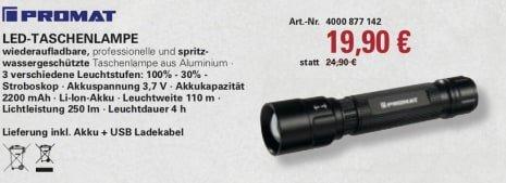 PROMAT 4000 877142 8x LED FLASHLIGHT (NEW)