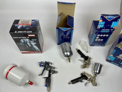 SATA Lot of industrial spray guns and accessories