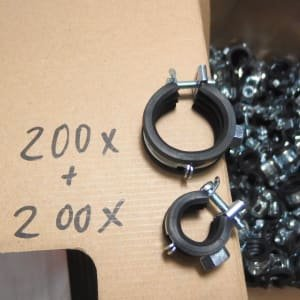 KIWA Zubehör over 400 pipe clamps new