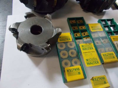 WALTER Werkzeug Inserts cutter heads + disk / hedgehog milling cutters and 250+ inserts new
