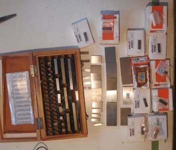 Werkzeug 83 pcs. Gauge blocks and gauge block box