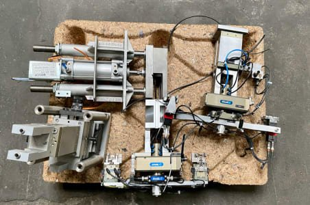 SCHUNK Lot of rotating and gripping modules, lifting unit