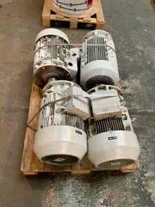 ATB 1LA7169-4AA69-ZN00 Lot (4x) three-phase motors 22 & 11 kW